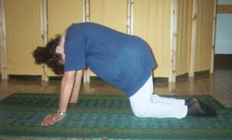 yoga gravidanza posizione 2